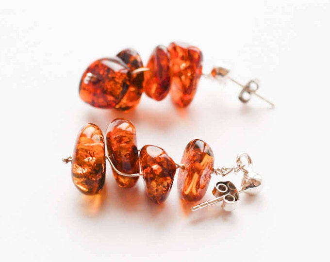 Natural Baltic amber earrings 4,7g