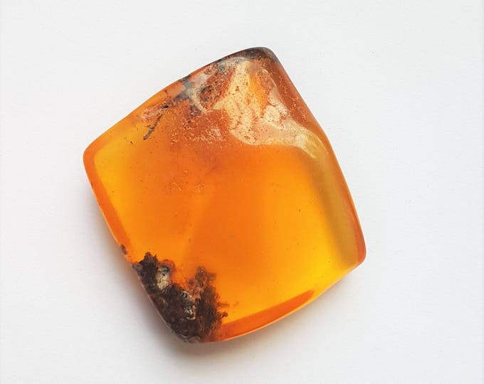 16g. Genuine,Natural Baltic Amber Stone, Yellow, Butterscotch Amber Cabochon, Not Modified Amber