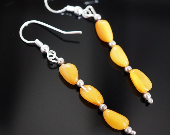 2g. Honey Butterscotch  Baltic Amber Sterling Silver Earrings