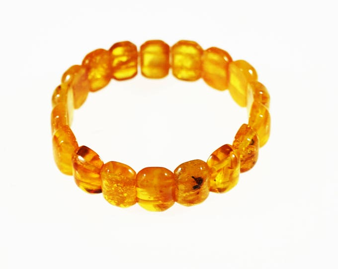 Natural Baltic Amber Bracelet, Organic Amber Bracelet, Genuine Amber, Yellow Amber Bracelet, Giftt for Him, Gift For Her