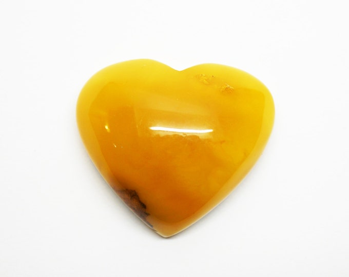 Natural Baltic Amber Heart Stone 25g