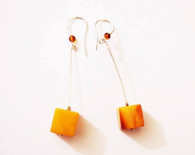 Natural Baltic amber earrings 6g.