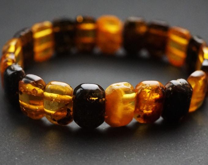 8g. Natural Handmade Amber Bracelet, Small Amber Bracelet, Multicolour Amber Bracelet