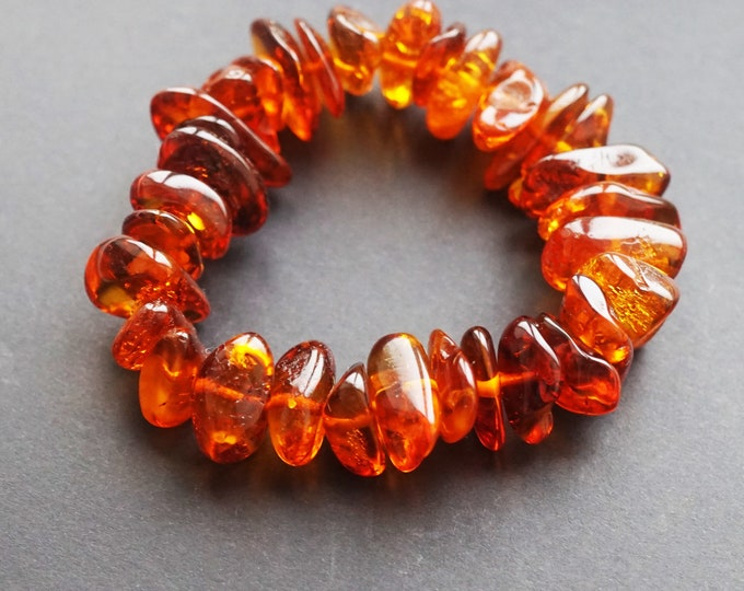20g. Natural Baltic Amber Bracelet, Not Pressed, Sunny Jewellery, Honey Amber, Olive Bead Amber, Beach Bracelet, Organic, Genuine Amber