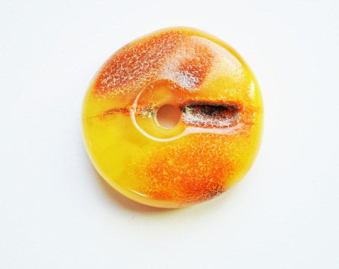 11g. Donut Baltic Amber Pendant