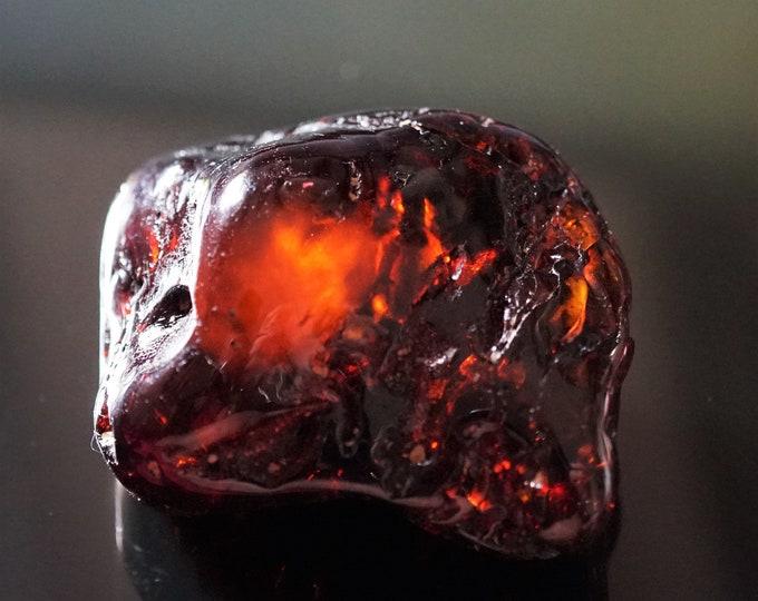 25,5g. Natural Baltic Amber Stone, Cherry/Cognac Baltic Amber, Large Genuine Amber Stone