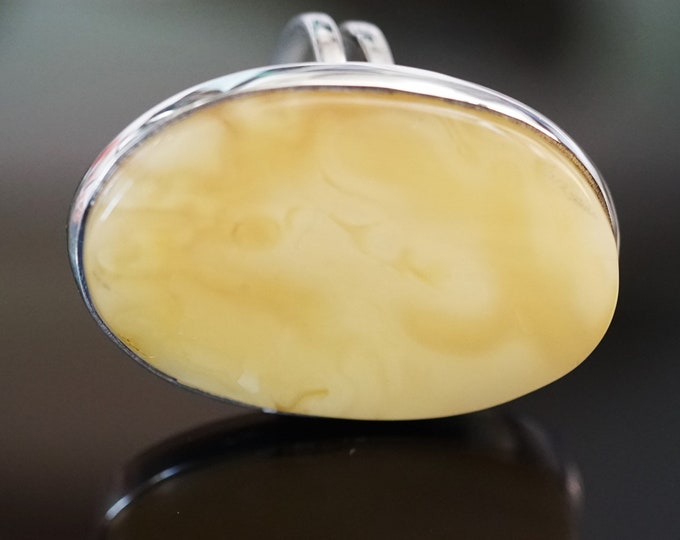 14,5g. Butterscotch  Baltic Amber Ring, Yellow Amber Ring,Natural Amber