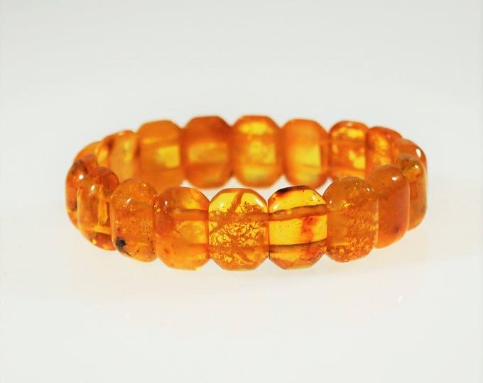 Natural Baltic Amber Bracelet, Organic Amber Bracelet, Genuine Amber, Yellow Amber Bracelet, Giftt for Him, Gift For Her