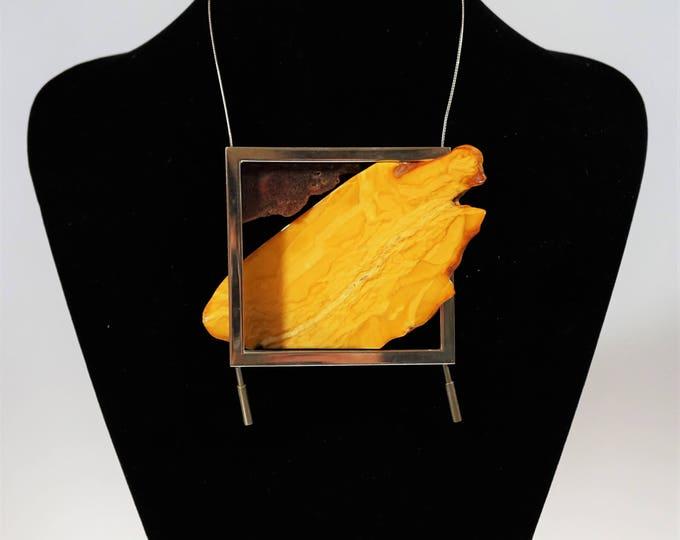 87g. Unique E.Salwierz Design Amber Necklace