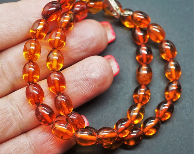 12g Natural Baltic Amber Necklace, Not Pressed Amber