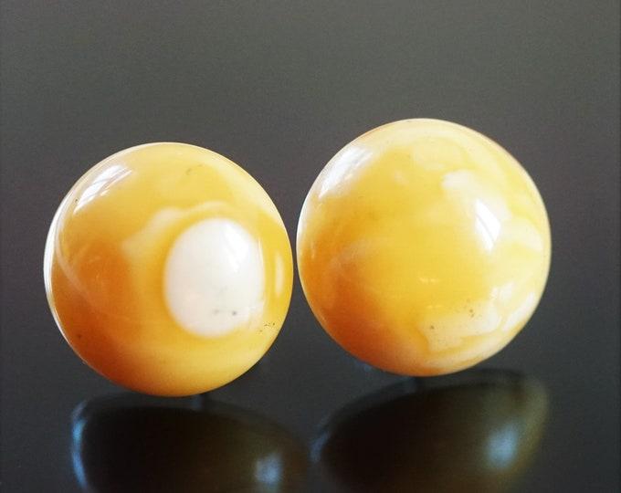 Butterscotch Natural Baltic Amber Stud Earrings
