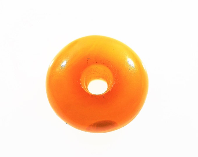 2g Butterscotch Baltic Amber Donut Pendant, Amulet
