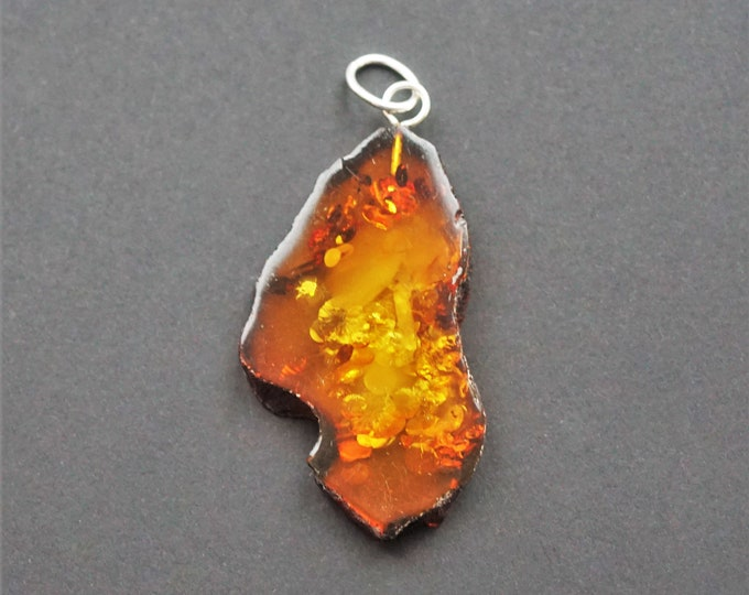 4,8g Baltic Amber Sterling Silver Pendant
