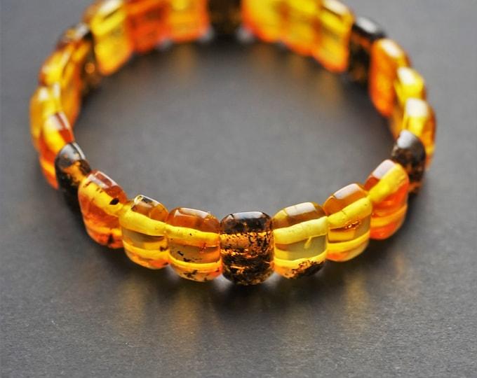 6,9g. Natural Handmade Amber Bracelet, Small Amber Bracelet, Multicolour Amber Bracelet