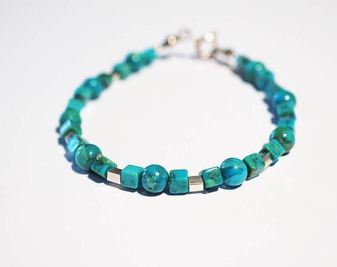 Handmade Sterling Silver Turquoise Bracelet 6,6g