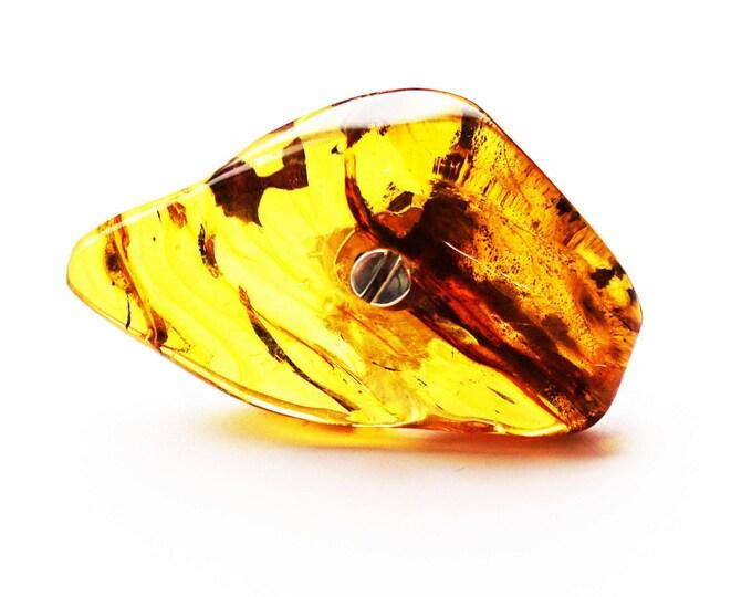 39g  Huge Baltic Amber Ring E.Salwierz Design