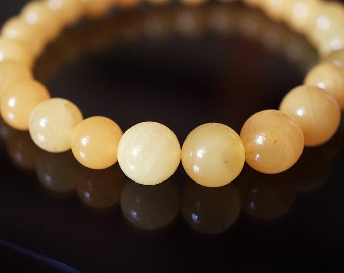 6,4g. Butterscotch Baltic Amber Bracelet, Genuine Amber Bracelet, Untreated Amber, Organic, Natural