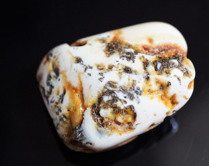 11g. Genuine White Baltic Amber Bead, Jewellery Making Amber Bead,  Amber with Hole