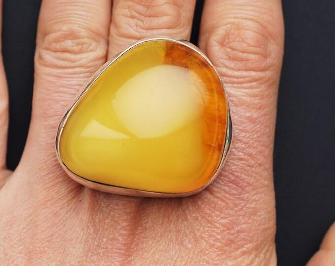26.2g.Large Baltic Amber Ring