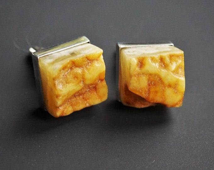 19.3g Original Baltic Amber Cufflinks