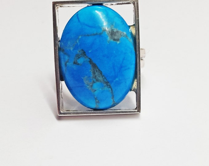 Turquoise Silver ring 9g
