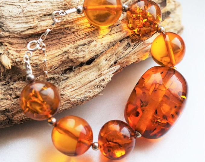 37.5g. Huge Amber Bracelet, Not Pressed Amber