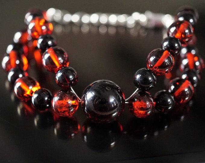11g. Cherry Baltic Amber Bracelet, Unique Bracelet