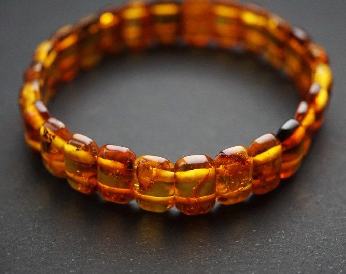 7g Natural Baltic Amber Bracelet, Small Amber Bracelet, Cognac Amber Bracelet