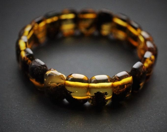 11.6. Natural Baltic Amber Bracelet, Amber Inclusion Bracelet, Small Bracelet