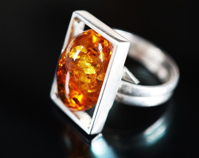 6g. Natural Cognac Baltic Amber Ring