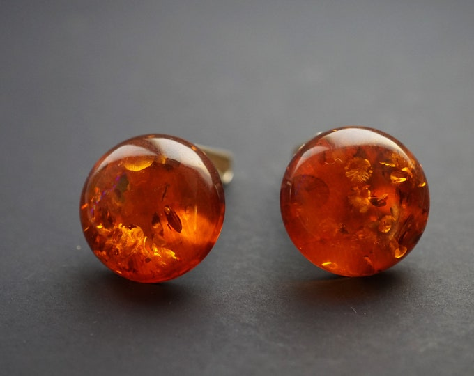 11g. Amber Clip Earrings