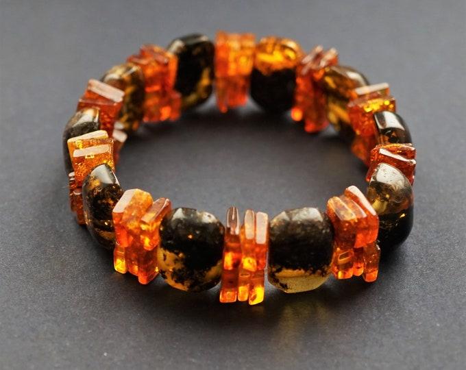 14,3g Multicolour Amber Bracelet