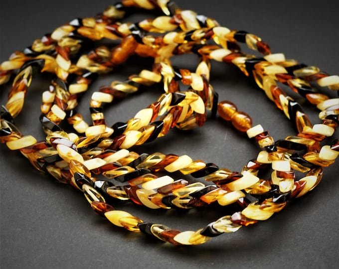 11,3g Multicolour Amber Necklace, Genuine Amber Necklace