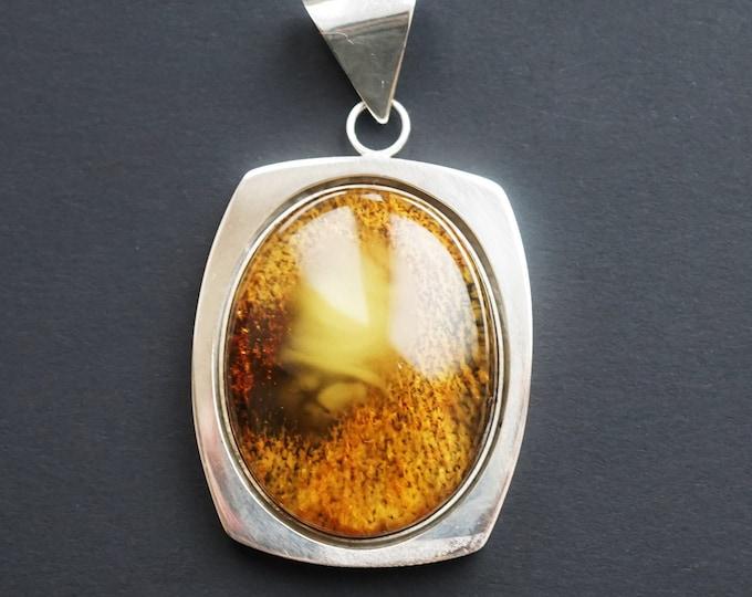 21,3g Butterscotch/Yellow  Baltic Amber Pendant, E.Salwierz Design, Natural Amber Pendant, Genuine Amber