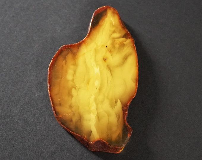18,5g Genuine Baltic Amber Stone, Butterscotch Natural Amber