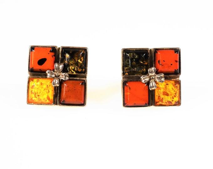 Natural baltic amber stud earrings 5g