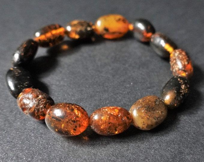11.2g. Natural Baltic Amber Bracelet, Amber Inclusion Bracelet, Small Bracelet