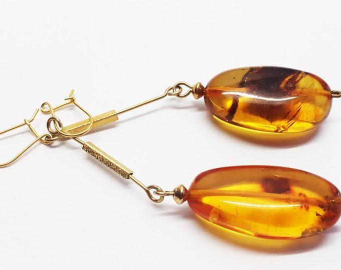 Amber earrings 10g
