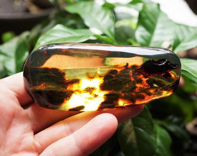 54g Baltic Amber Stone, Genuine Yellow Amber Stone, Large Amber