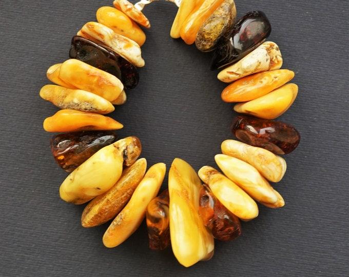 71,8g. Handmade baltic amber bracelet