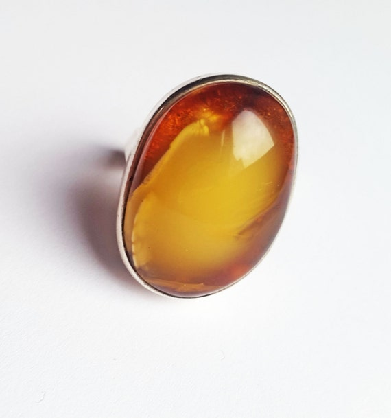 Handmade Baltic amber ring 14g