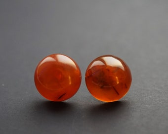 Natural baltic amber stud earrings 2g