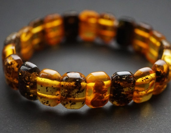 9g Natural Baltic Amber Bracelet, Small Amber Bracelet, Multicolour Amber Bracelet