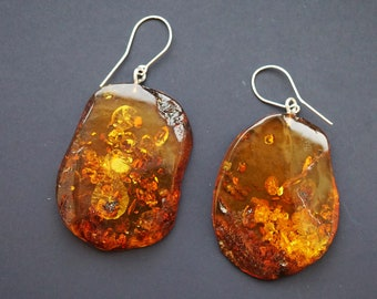 Natural Baltic Amber Earrings 16.8g