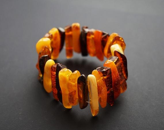 Multicolour Amber Bracelet 26g