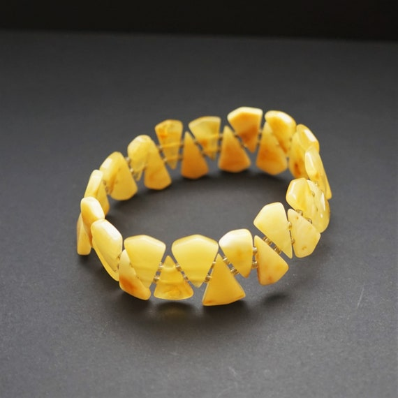 Butterscotch Baltic Amber Bracelet, Genuine Amber Bracelet, Beaded Bracelet, Untreated Amber, Organic, Natural