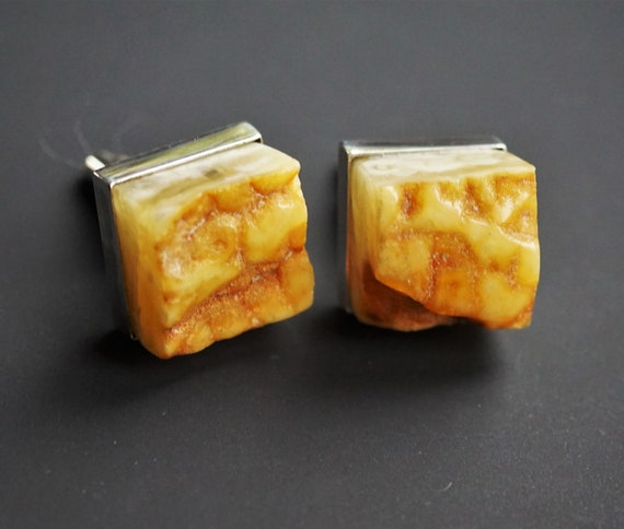 19.3g Original Baltic Amber Cufflinks