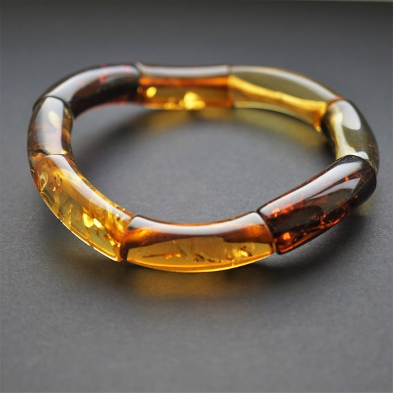 20g Multicolour Baltic Amber Bracelet, Genuine Amber Bracelet, Beaded Bracelet