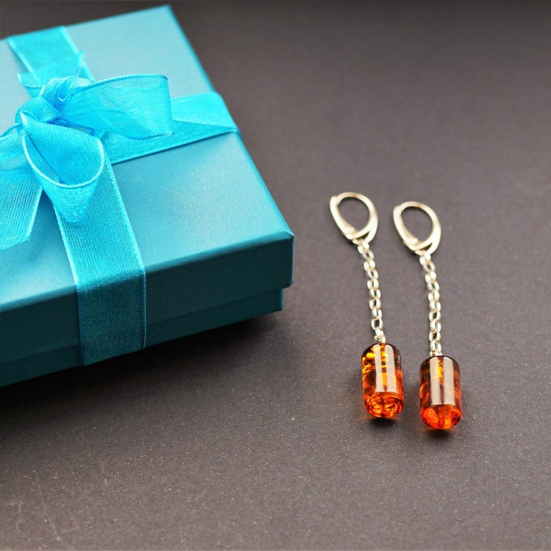 3,4g Natural Baltic amber earrings