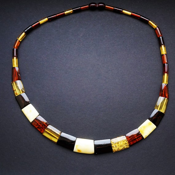 15,5g Multicolour Baltic Amber Nacklace, Genuine Amber Necklace
